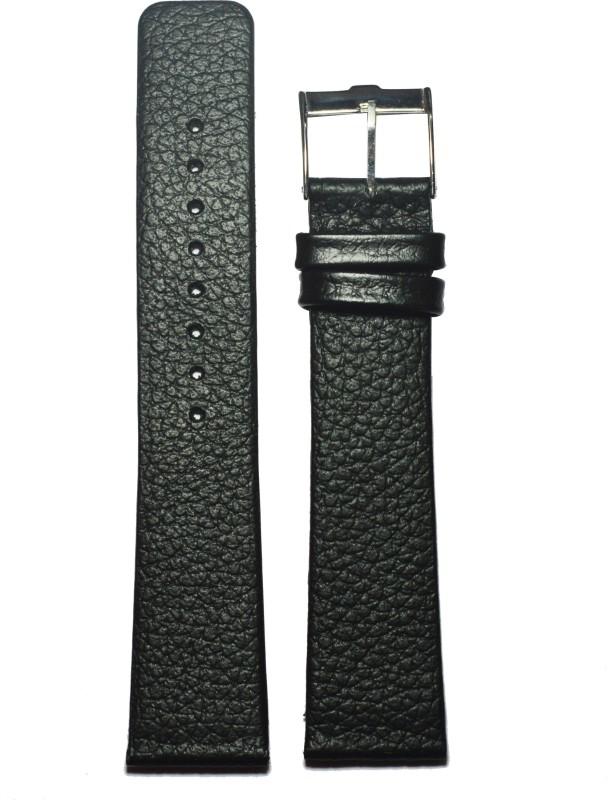 Kolet Slim DR20B 20 mm Leather Watch Strap(Black)