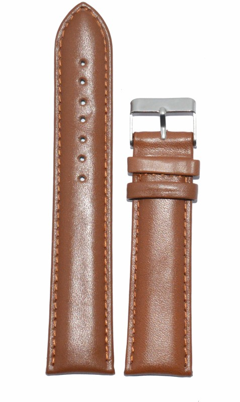 kolet-plain-padded-18-mm-leather-watch-straptan
