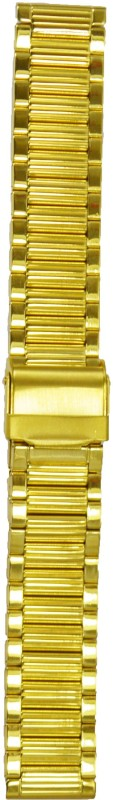 Kolet Gold Plated 18R 18 mm Stainless Steel Watch Strap(Gold)