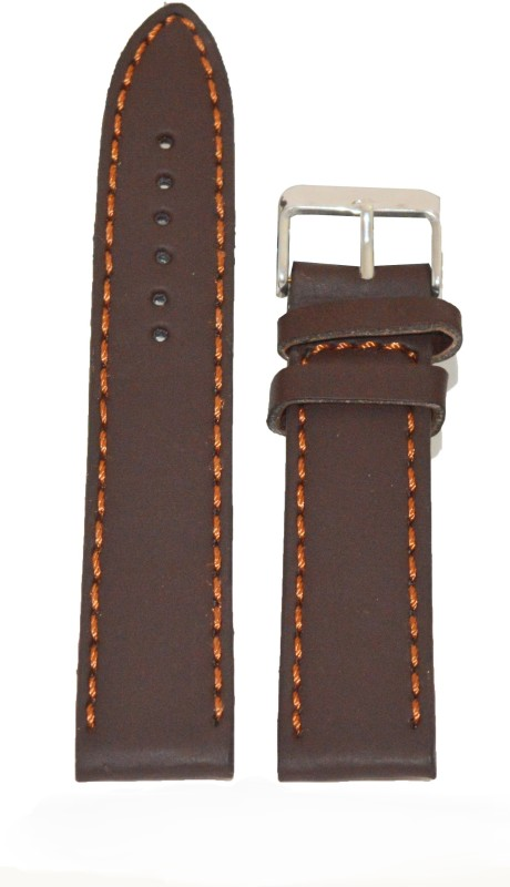 kolet-plain-matte-finish-24-mm-leather-watch-strapbrown