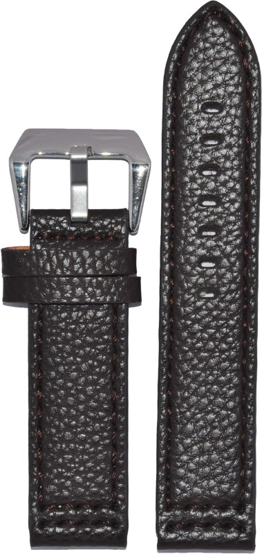 Kolet Dotted 24BR 24 mm Leather Watch Strap(Brown)