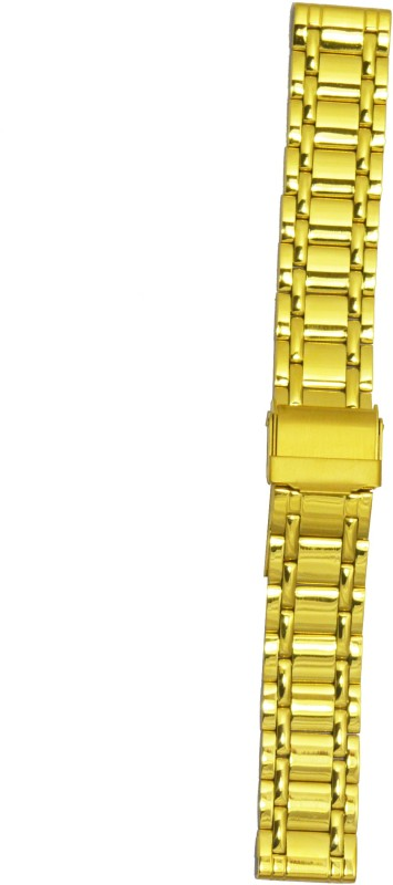 Kolet Gold Plated 18 mm Stainless Steel Watch Strap(Gold)