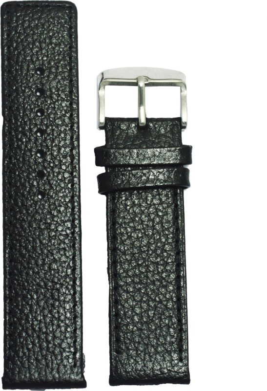 Kolet Dotted 20B 20 mm Leather Watch Strap(Black)