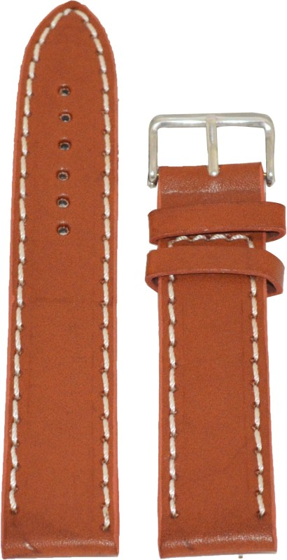 Kolet Plain T 20 mm Leather Watch Strap(Tan)