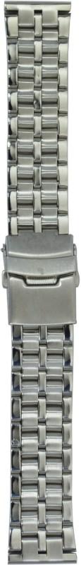 Kolet Two Tone 22 mm Steel Watch Strap(Silver)