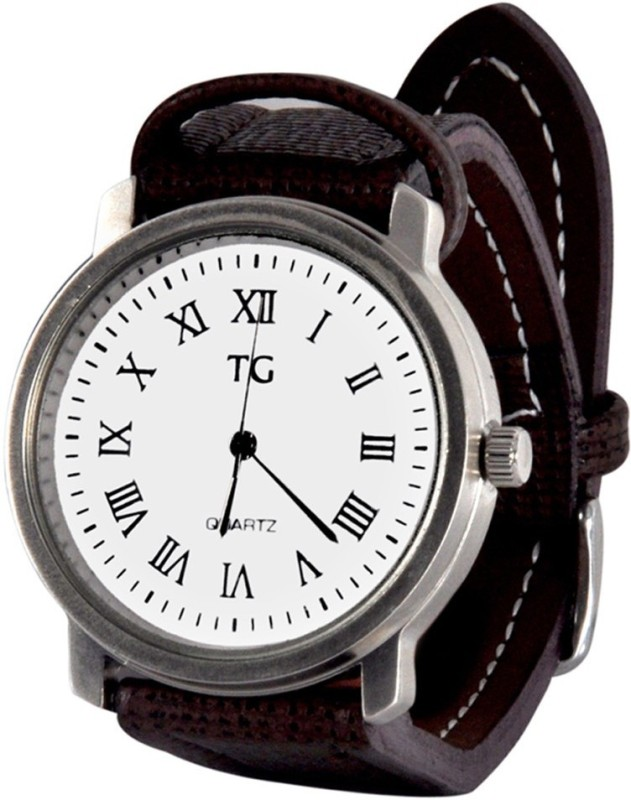 Techno Gadgets Watch 001 25 mm Leather Watch Strap(White)