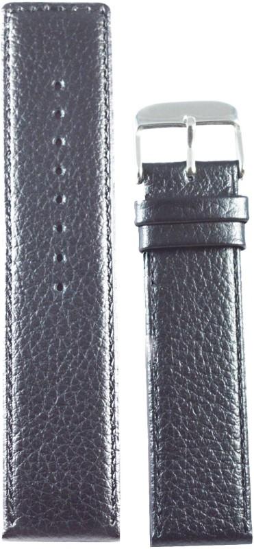Kolet Parallel 24 mm Leather Watch Strap(Black)
