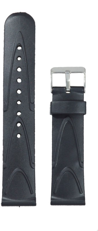 Kolet V 22 mm PVC Watch Strap(Black)