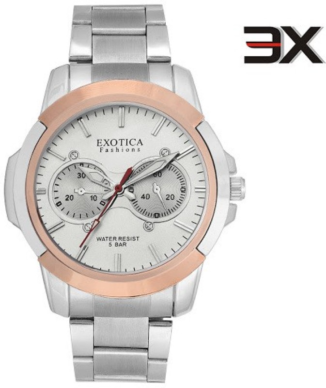 Exotica Fashions EFG-05-TT-Steel-W-NS New Series Analog Watch - For Men