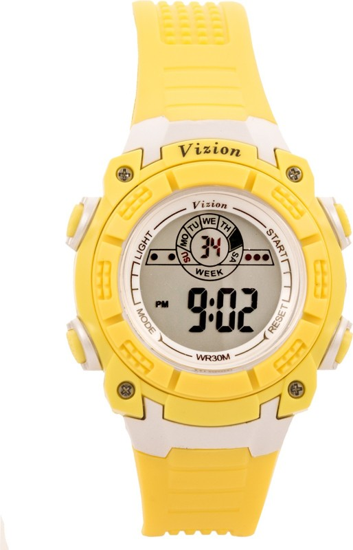 Vizion V8017076-5(Yellow) Sports series Digital Watch - For Boys & Girls
