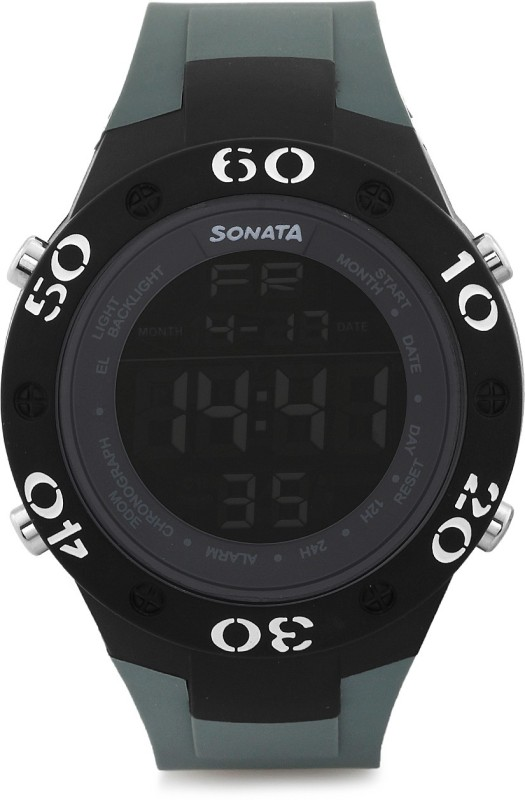 Sonata NH77035PP02 Digital Watch - For Men