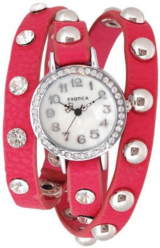 Exotica Fashions EFL-100-Fuschia Basic Analog Watch - For Women