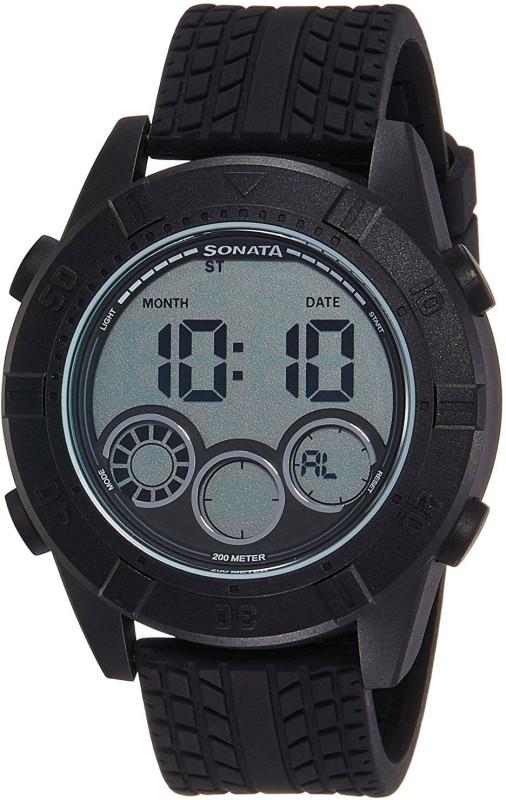 Sonata 77038PP04 Digital Watch - For Men