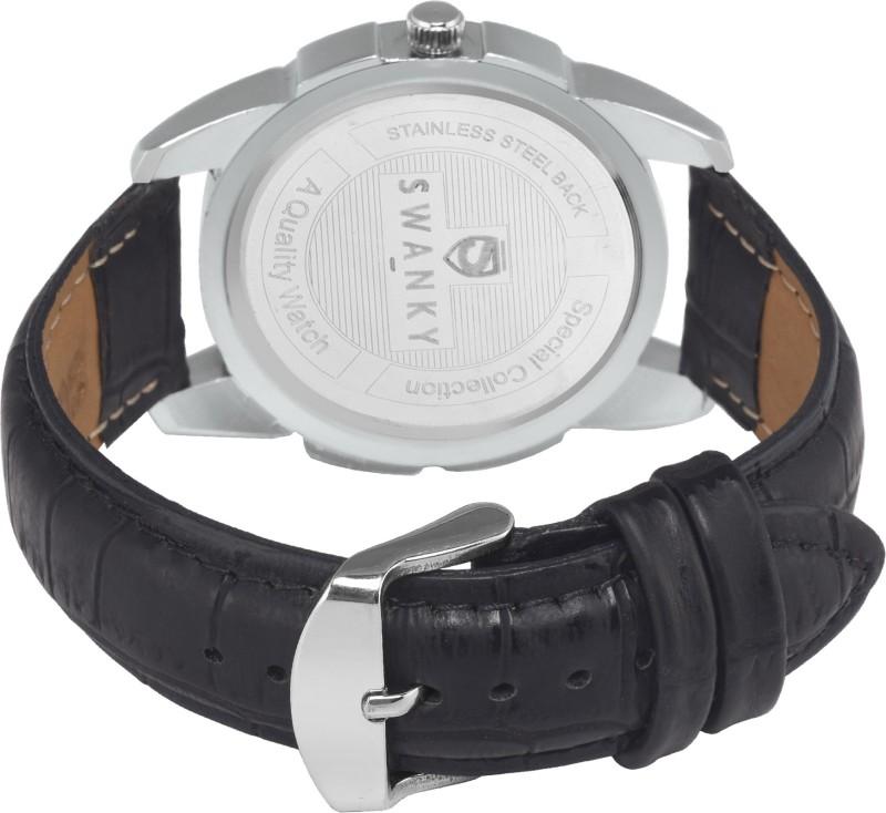 Swanky SC-MW-Dgt08-Blk Analog Watch - For Men