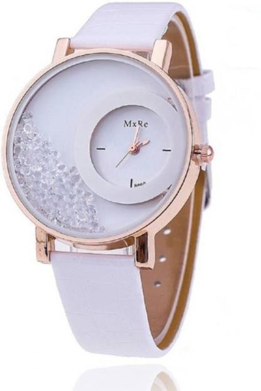 MxRe White-Stylish Analog Watch  - For Women