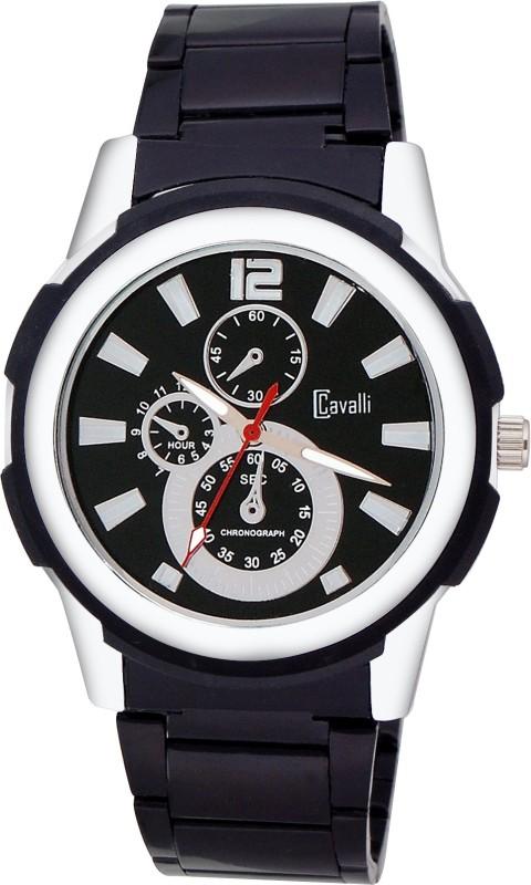 Cavalli CW082-Stunning Black Dial Analog Watch - For Men