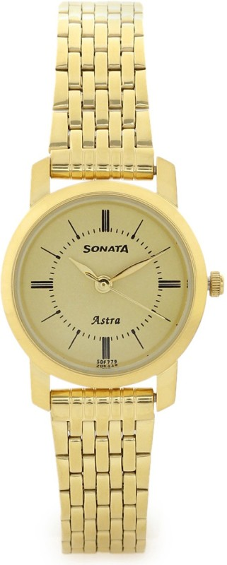 Sonata 87018YM01CJ Analog Watch - For Women