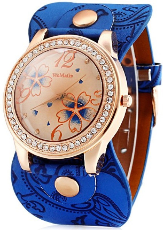 Womage 628-4 Big Strap Analog Watch - For Women