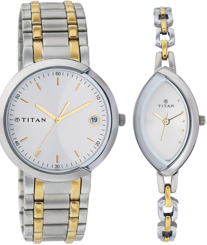 Titan 19632963BM01 Couple Watch image