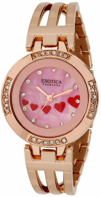 Exotica Fashions EFL-56-Pink-RG Analog Watch - For Women