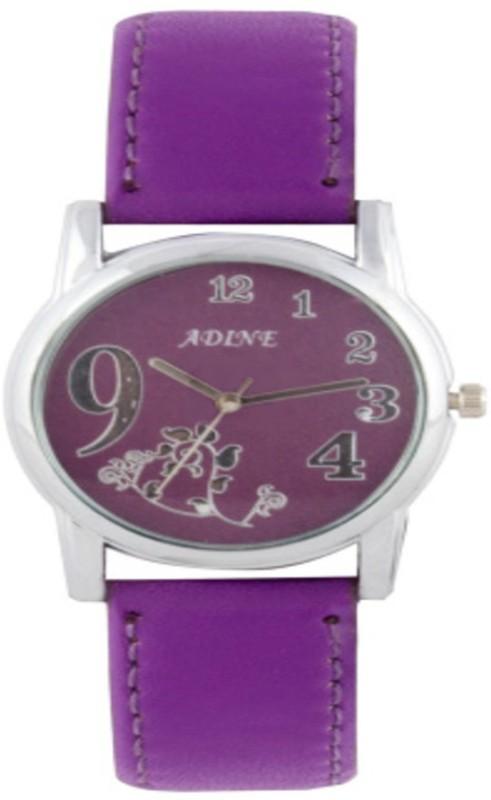 Adine Ad-1233Purple Purple Fabulous Analog Watch - For Women