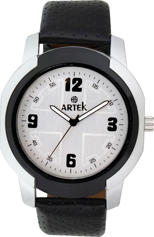 Artek ARTEK-4008-SILVER-BLACK Analog Watch - For Men