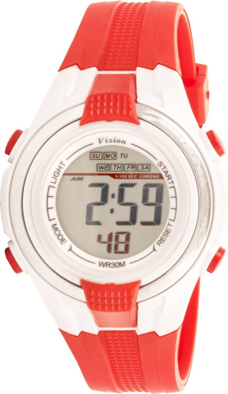 Vizion 8020082-6RED Sports Series Digital Watch - For Boys