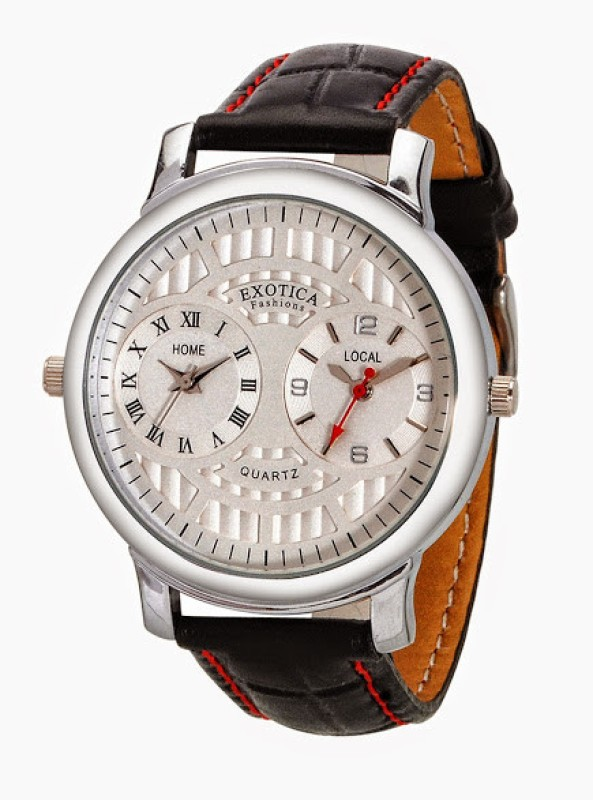 Exotica Fashions EF-82-Dual-White. Analog Watch - For Men