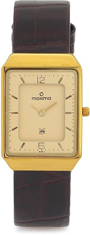 Maxima 09051LMGY Gold Men's Watch image