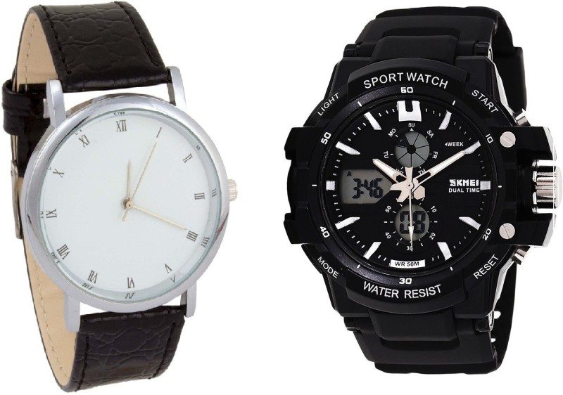 Skmei SPECIAL OFFER - SKEMI Dual Time Sports Analog-Couple's Digital Watch WITH FREE FORMAL STYLE WATCH Watch image