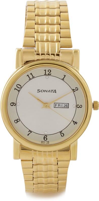 Sonata 7987YM03J Townsman Analog Watch - For Men