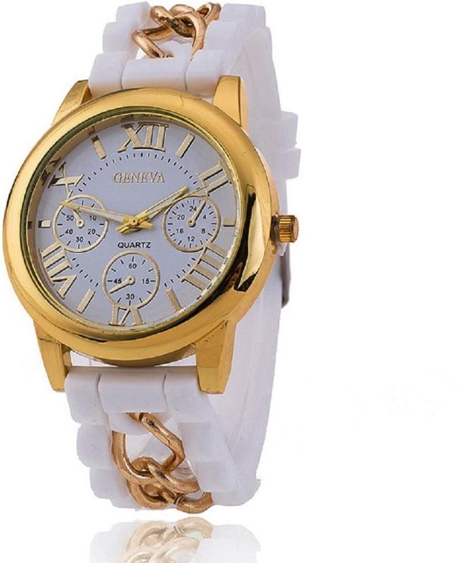 Geneva Platinum Designer Silicone Strap Analog Watch - For Women