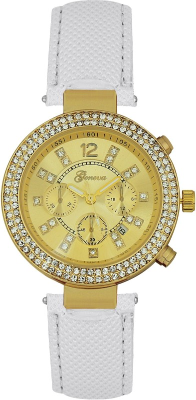 Geneva Platinum Double Layer Studded GP 248 Smart Analog Watch - For Women