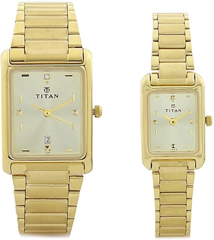 Titan NH531193YM06 Couple Watch image