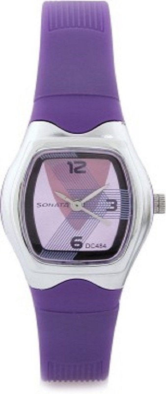 Sonata girls purple 01 contemporary Women's Watch image