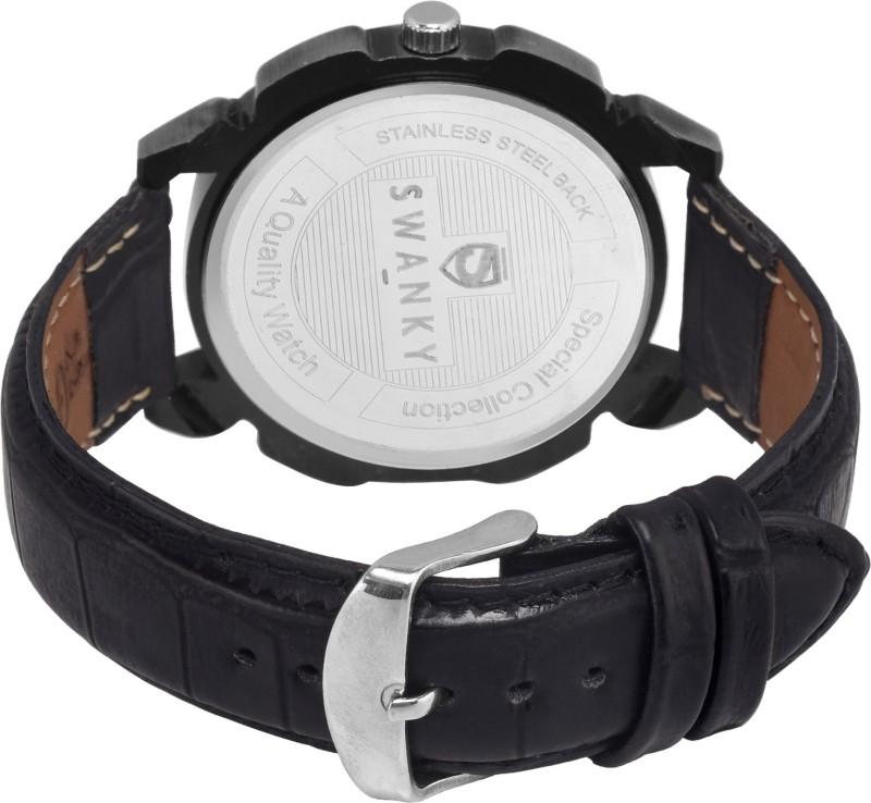 Swanky SC-Antk2Crn01-Blk Analog Watch - For Men