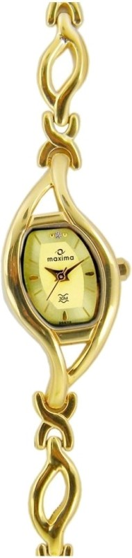 Maxima 25572BMLY Gold Watch - For Women