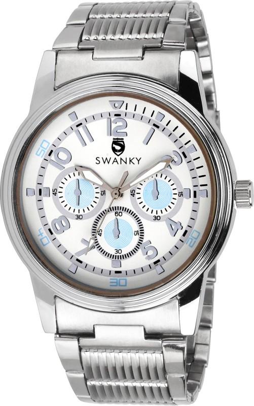 Swanky SC-MW-CrnSty02-Wh Analog Watch - For Men