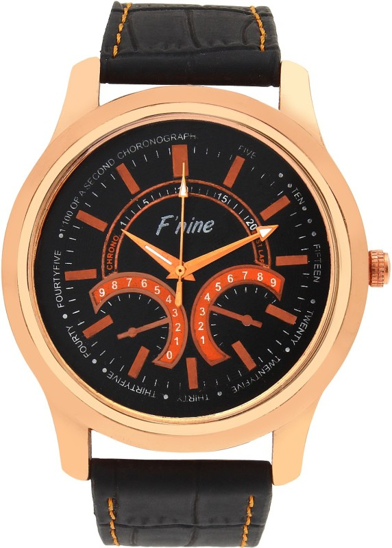 fnine-vintage-look-crocodile-leather-strap-watch-for-men