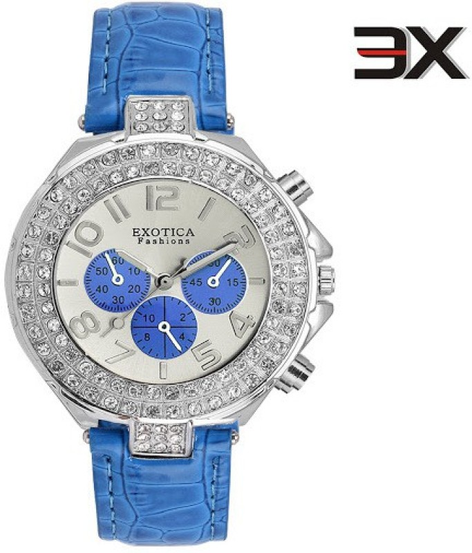 Exotica Fashions EFN-07-Blue-New New Series Analog Watch - For Women