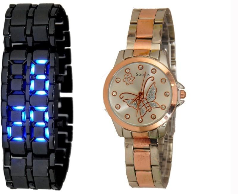Declasse SOOMS LED - 0182 SOOMS LED Analog-Digital Watch - For Men & Women