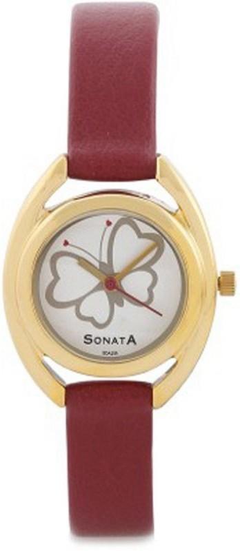 Sonata yuva gold round Women's Watch image