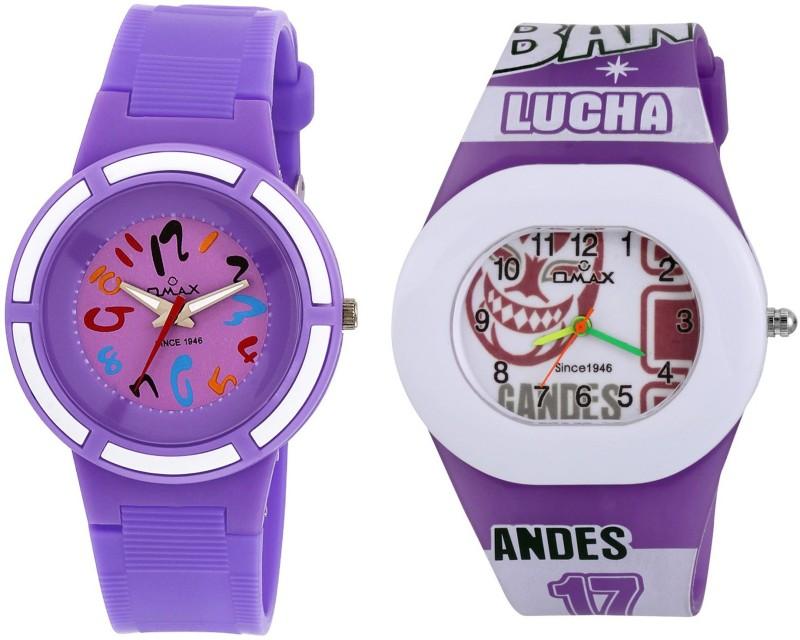Omax KD123_145_Purple_White Boy's Watch image.