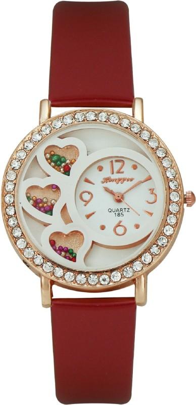 Hongyee A185 Three Hearts Analog Watch - For Women