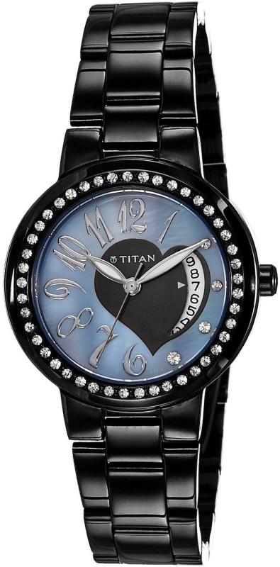Titan NC9855NM01 Purple Women's Watch image