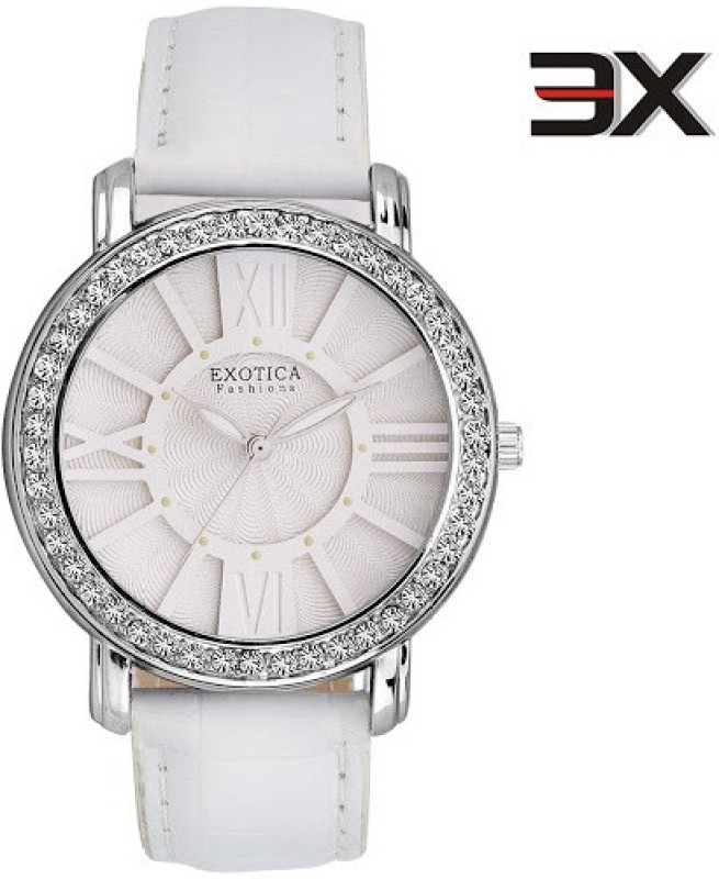 Exotica Fashions EF-70-White-New New Series Analog Watch - For Women