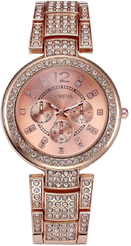 Geneva Platinum Big Size Studded GP-279 Analog Watch - For Women