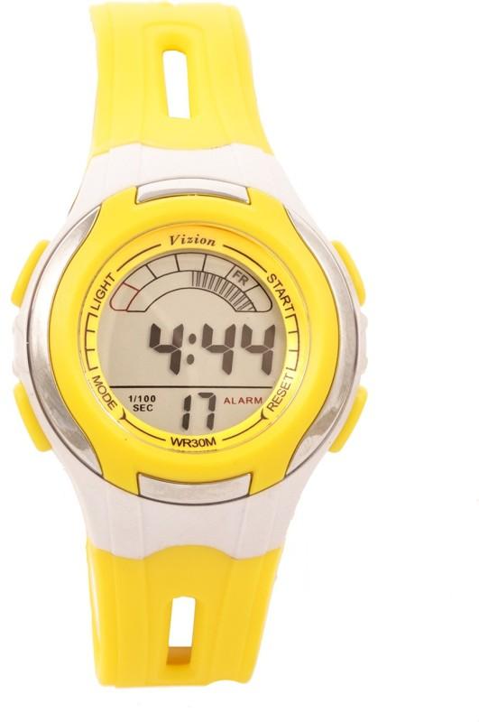 Vizion V8545019B-8(Yellow) Sports series Digital Watch - For Boys & Girls