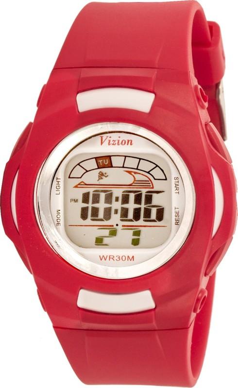 Vizion 8522-1RED Cold Light Digital Watch - For Boys & Girls