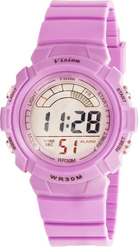Vizion 8533027-8PURPLE Cold Light Digital Watch - For Boys